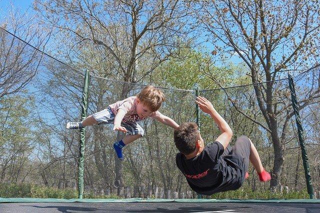 Kids Playing Fun Outdoor Jumping  - best summer activities